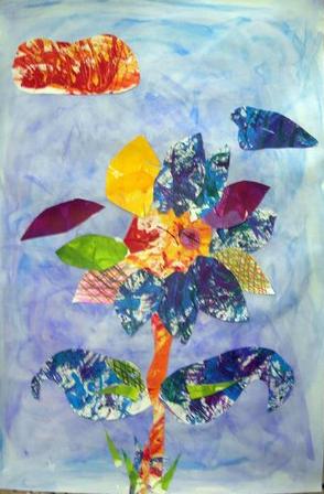 crazy paint flower