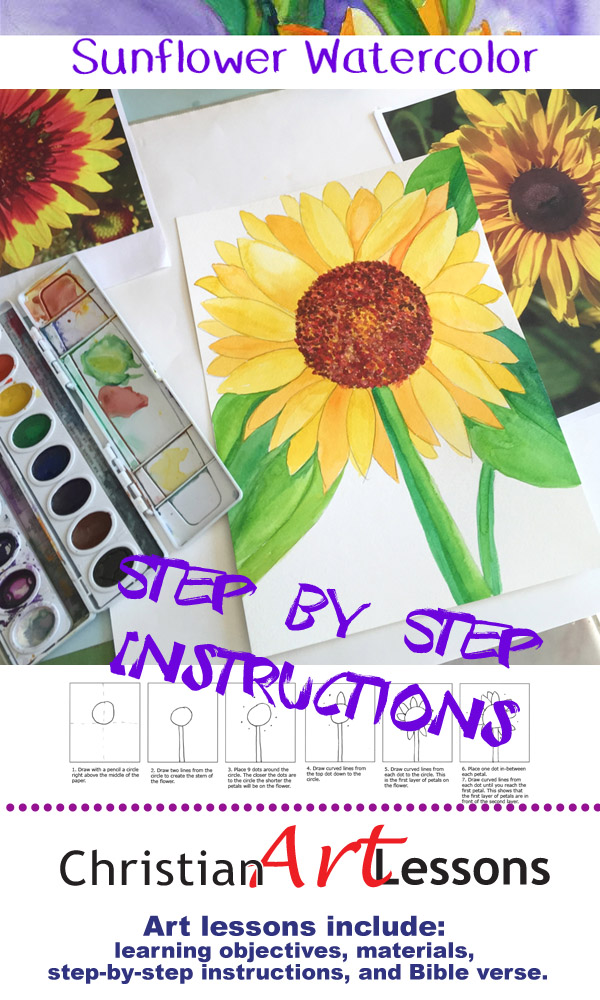 Sunflower Watercolor Painting lLesson