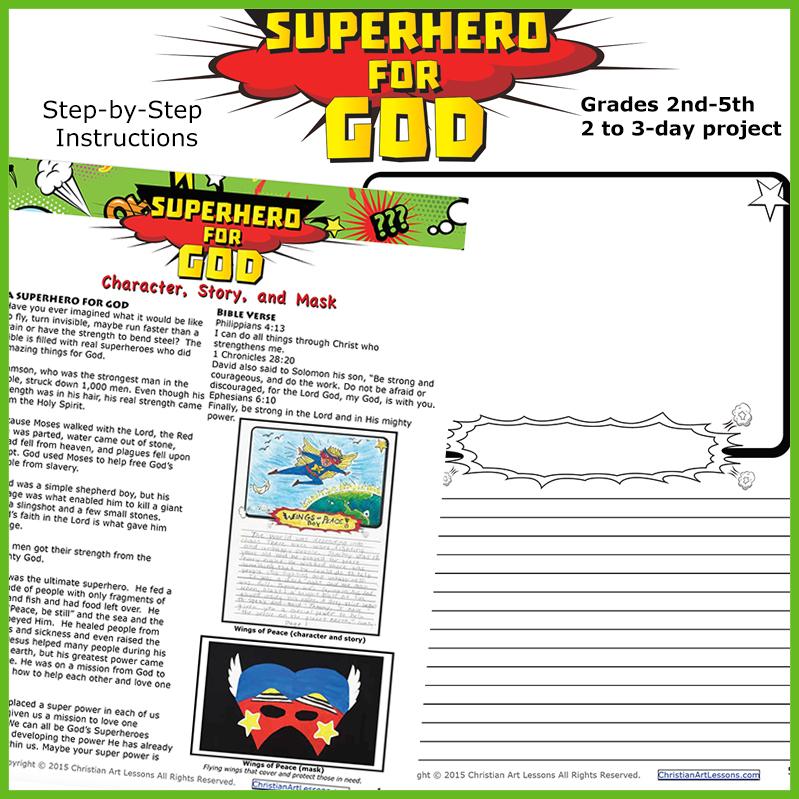 Superhero Writing Lesson