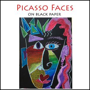 Picasso Portraits on Black Paper