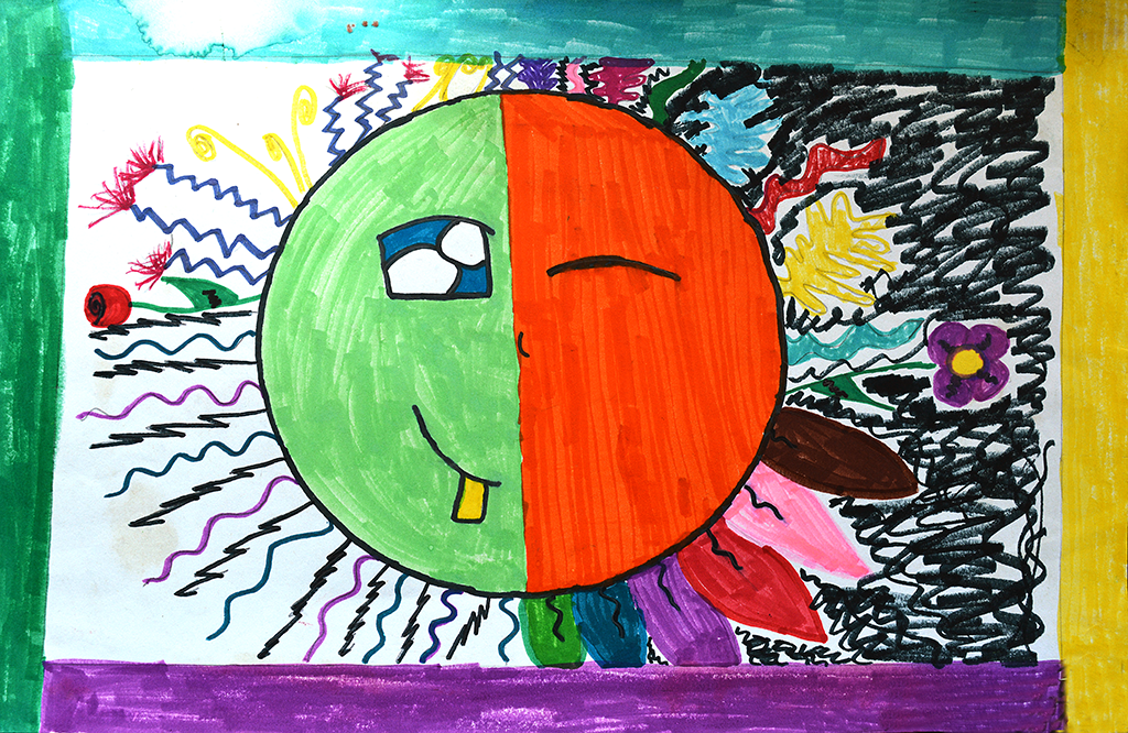 5th Grade Student's Art in Marker