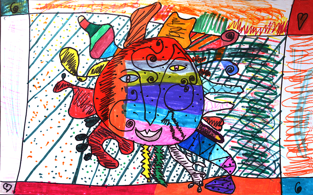 2nd Grade Student Art With Markers