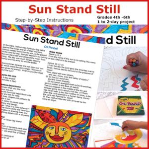 Oil pastel sun drawing art lesson