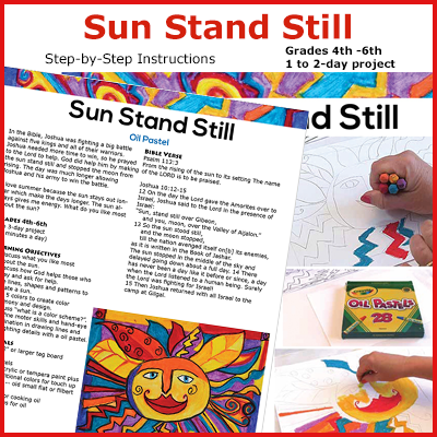 Oil pastel sun drawing art lesson