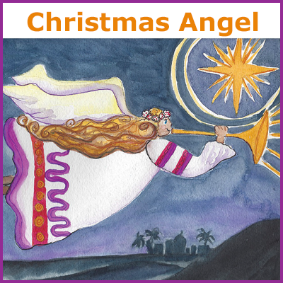 Christmas Angel Watercolor art lesson