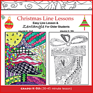 Christmas Doodle Zentangle Art Lesson
