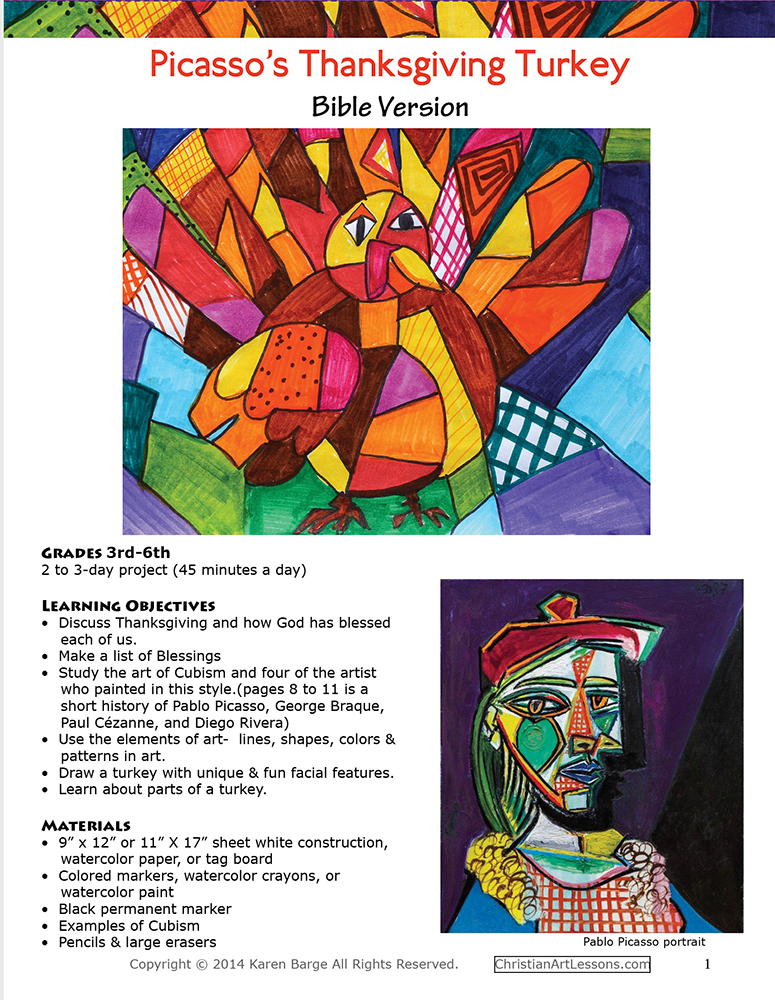 Picasso's Thanksgiving Turkey Bible Version