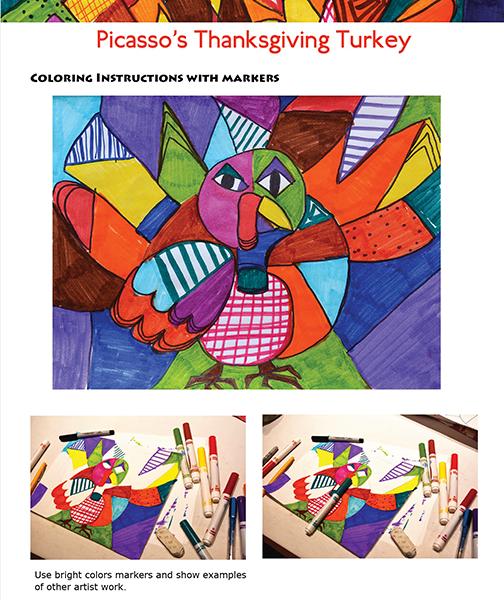 Picasso Thanksgiving Turkey Art Lesson