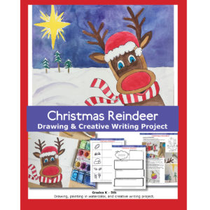 Christmas Reindeer Creative Writing and Art Lesson