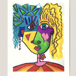 Art print of Picasso Face On White Print