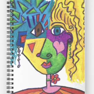 Picasso Face Abstract Portrait of a Girl Spiral Notebook