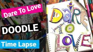 How to Draw Graffiti Hand Lettering with colored markers